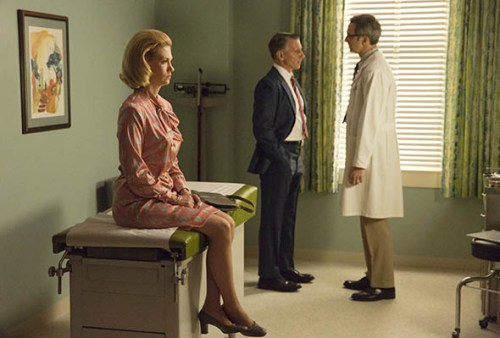 January Jones as Betty Draper-Francis on AMC's Mad Men.